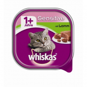 Whiskas Taza Adult 1+ Sensitive con Cordero 100 g