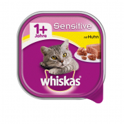 Whiskas Taza Adult 1+ Sensitive con Pollo 100 g