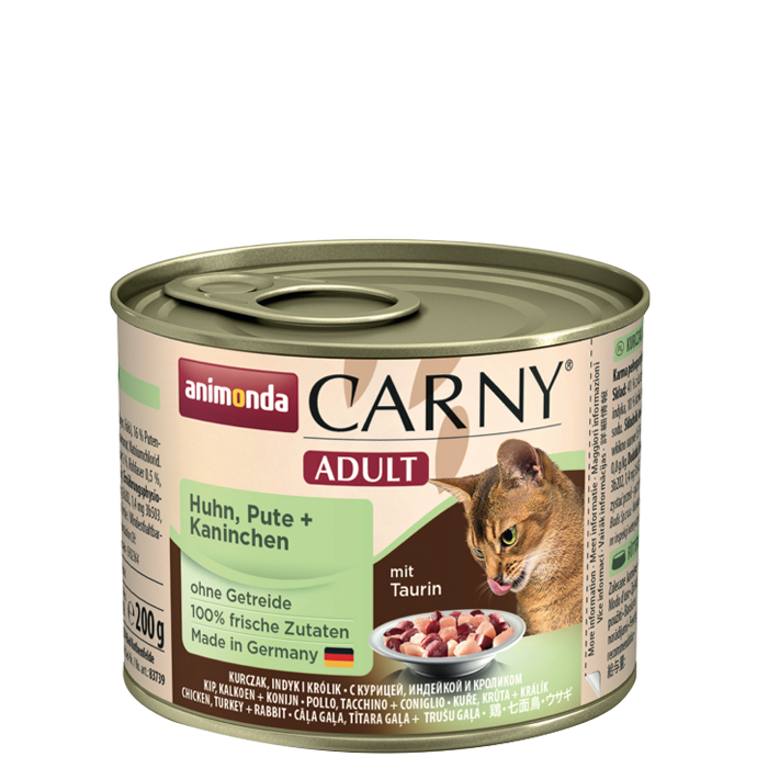 Animonda Carny Adult with Chicken, Turkey and Rabbit 200 g