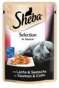Sheba Selection in Sauce med Laks og Sei 85 g