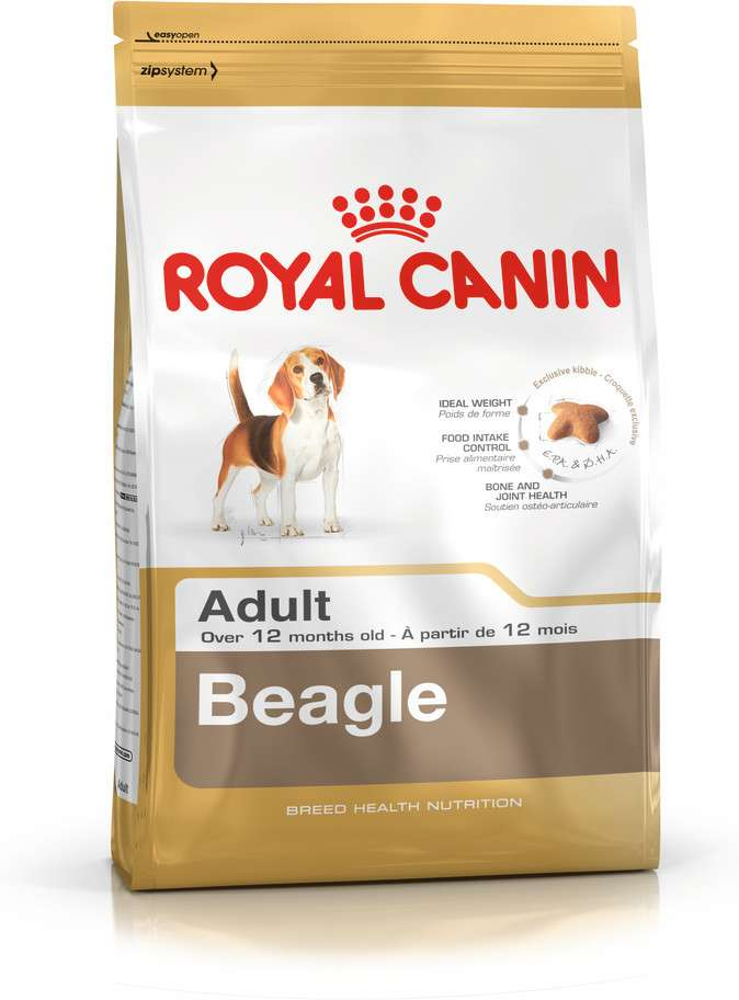 Royal Canin Breed Health Nutrition Beagle Adult 12 kg, 3 kg köp billiga på nätet