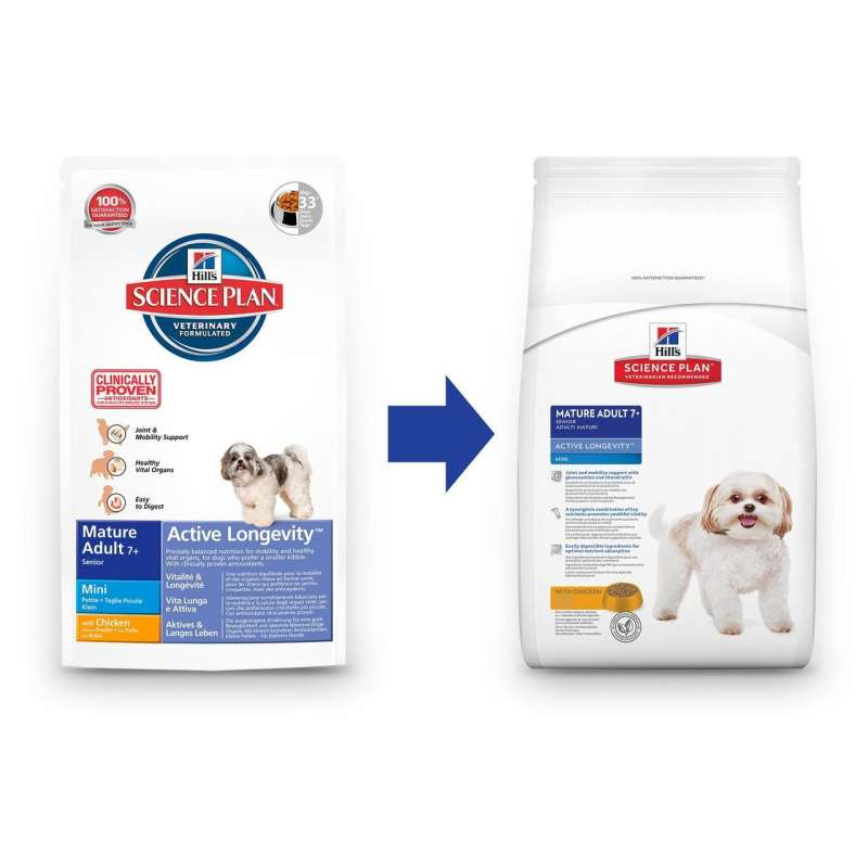 Hill's Science Plan Canine Mature Adult 7+ Active Longevity Mini Kyckling 3 kg