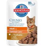 Science Plan Feline Adult Optimal Care mit Truthahn in Soße - EAN: 0052742210704