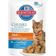 Hill'sScience Plan Feline Adult Optimal Care with Ocean Fish in Gravy 85 g
