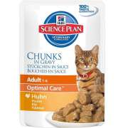 Hill's Science Plan Feline Adult Optimal Care med Kyckling i Sås 85 g