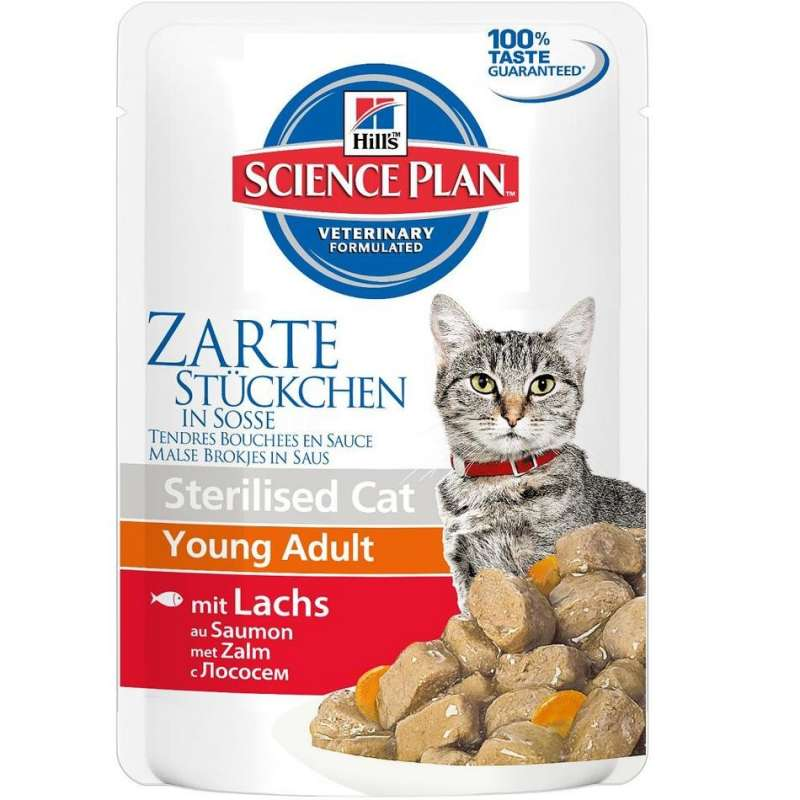 Hill's Science Plan Feline Sterilised Young Adult Lohi 85 g osta edullisesti