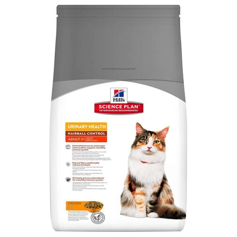Hill's Science Plan Feline Adult Urinary Health Hairball Control 3 kg