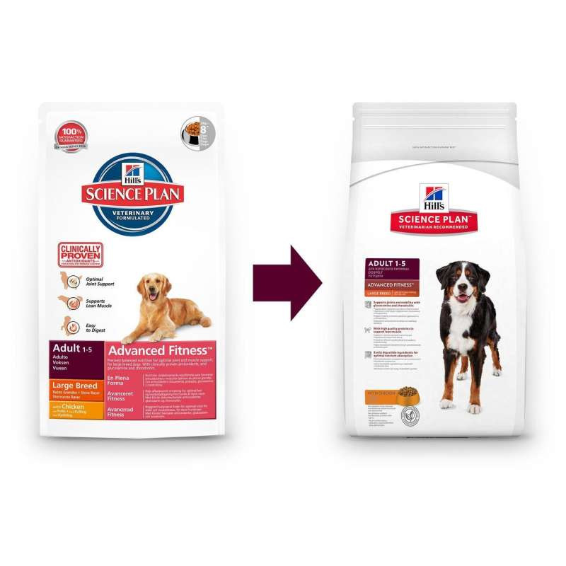 Hill's Science Plan Canine Adult Advanced Fitness Large Breed mit Huhn 12 kg