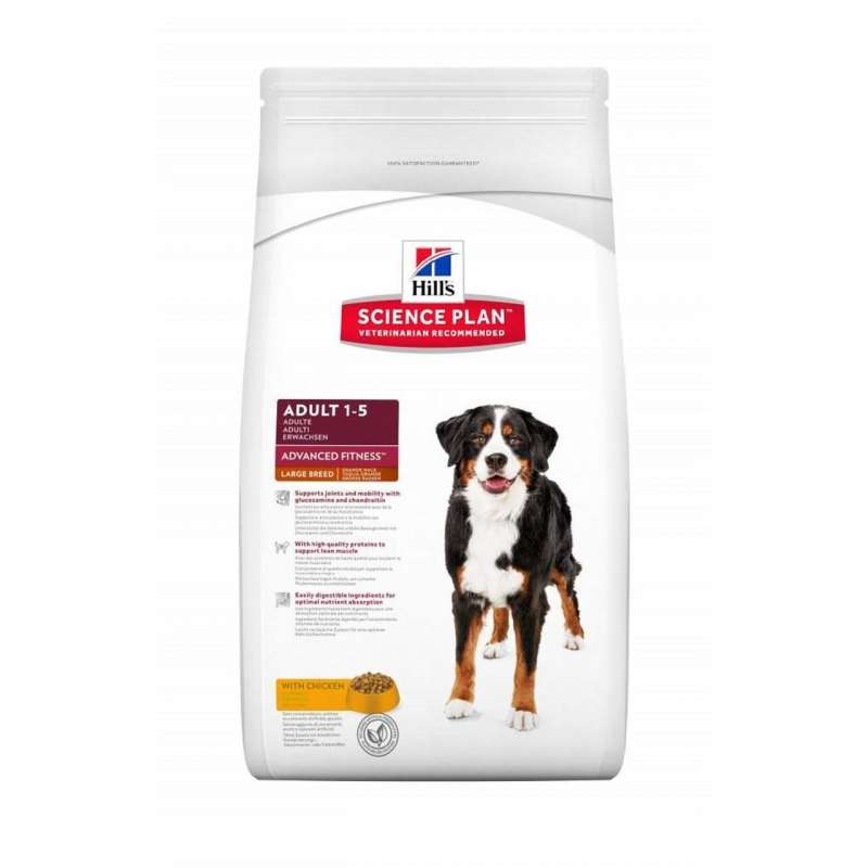 Hill's Science Plan Canine Adult Advanced Fitness Large Breed mit Huhn 12 kg 0052742927107 Erfahrungsberichte