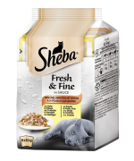 Sheba Fresh & Fine in Gravy Poultry & Vegetable Collection Multipack 6x50 g