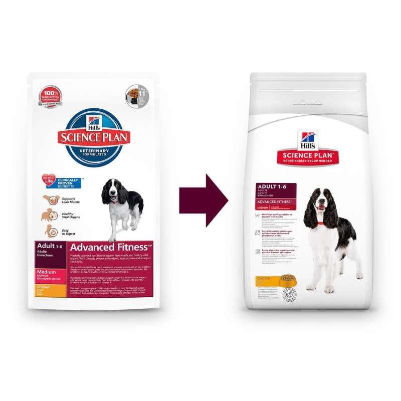 Hill's Science Plan Canine Adult Advanced Fitness Medium Kylling 12 kg