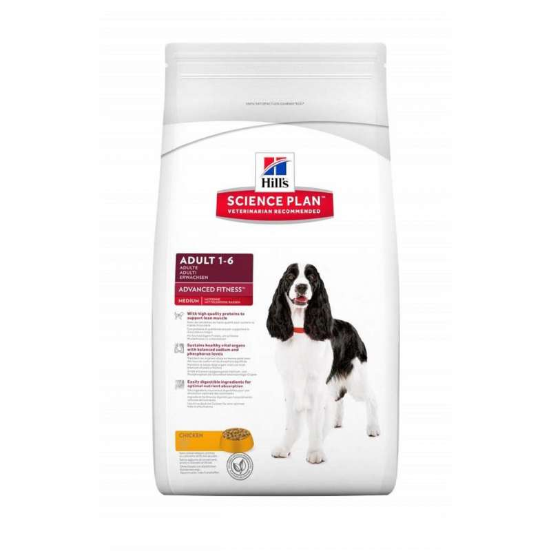Hill's Science Plan Canine Adult Advanced Fitness Medium Kip 12 kg, 2.5 kg