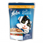 Felix As Good As It Looks Chicken & Tomatoes in Jelly 100 g
