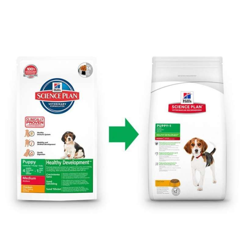 Hill's Science Plan Puppy Healthy Development Medium Kana 12 kg