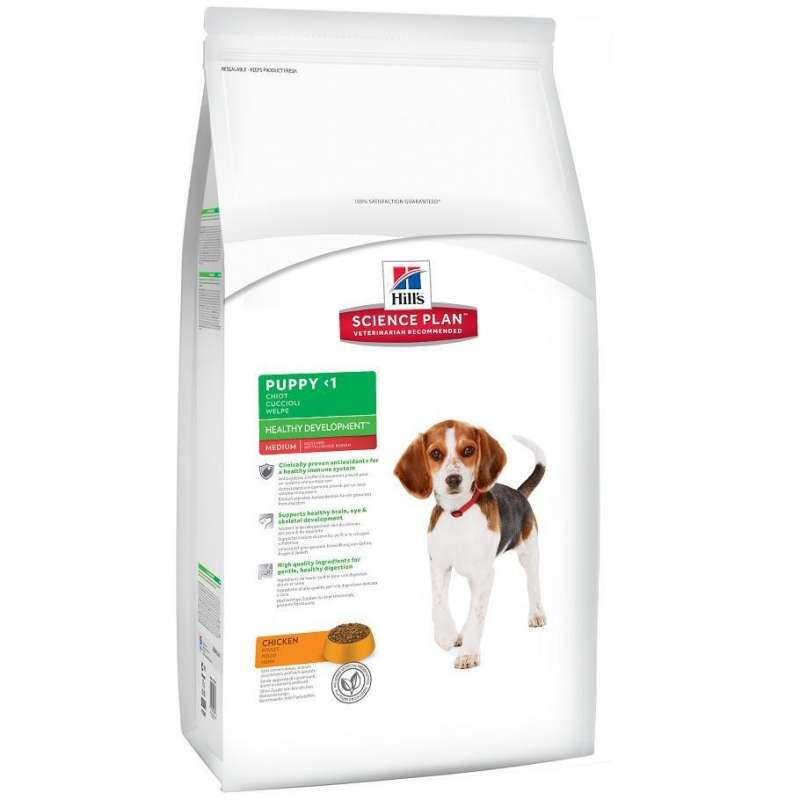 Hill's Science Plan Puppy Healthy Development Medium Kylling 12 kg, 1 kg, 3 kg