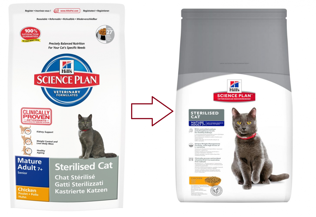 Hill's Science Plan Feline Mature Adult 7+ Sterilised Cat au Poulet 300 g, 3.5 kg, 1.5 kg essay