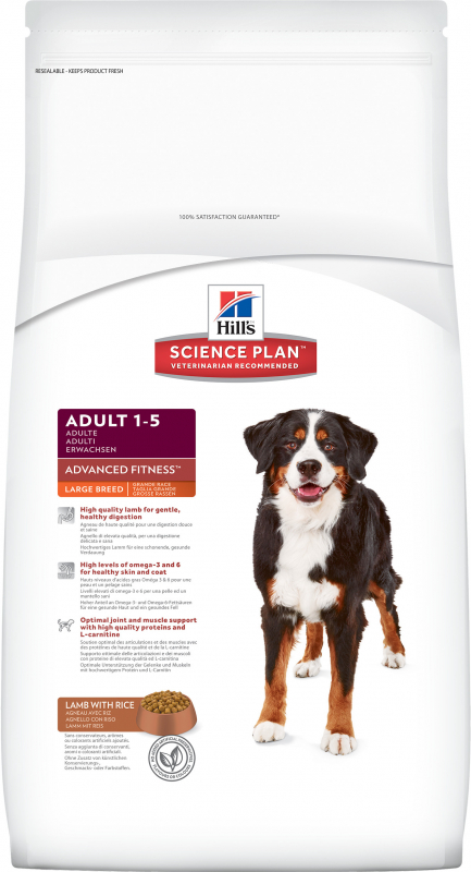 Hill's Science Plan Canine Adult Advanced Fitness Large Breed mit Lamm & Reis 12 kg 0052742927107 Erfahrungsberichte