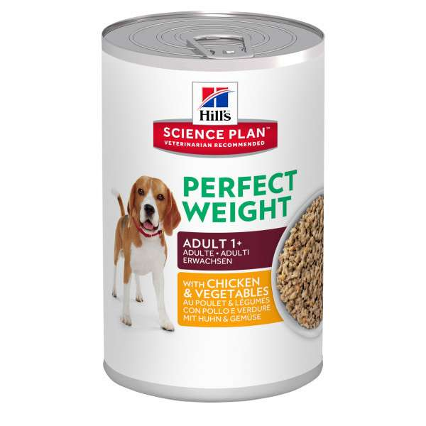 Hill's Science Plan Canine Adult Perfect Weight med Kyckling och Grönsaker 363 g