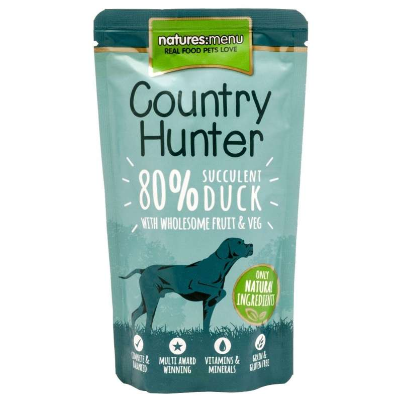 Natures Menu Country Hunter Pato jugoso 150 g
