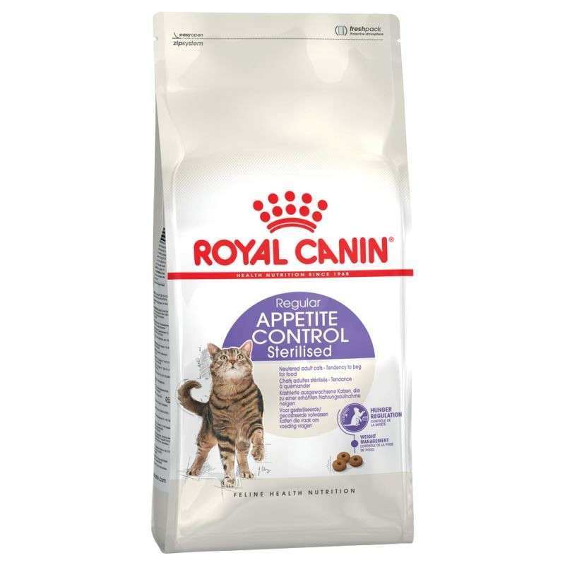 Royal Canin Feline Health Nutrition Appetite Control Sterilised 10 kg, 2 kg, 4 kg, 400 g
