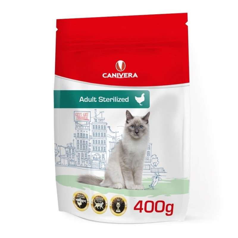 Canivera Cat Adult Sterilized mit Huhn 400 g 5901721516724