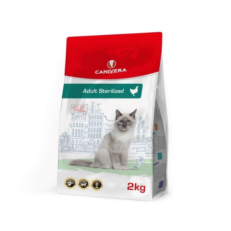 Canivera Cat Adult Sterilized mit Huhn 400 g, 2 kg, 10 kg Test