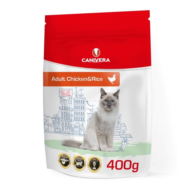 Canivera Cat Adult Chicken & Rice 400 g, 2 kg, 10 kg