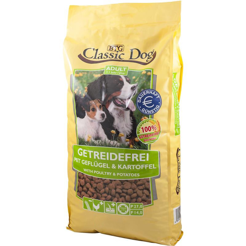 Classic Dog Adult Grainfree with Poultry & Potatoes 2 kg, 15 kg kjøp billig med rabatt