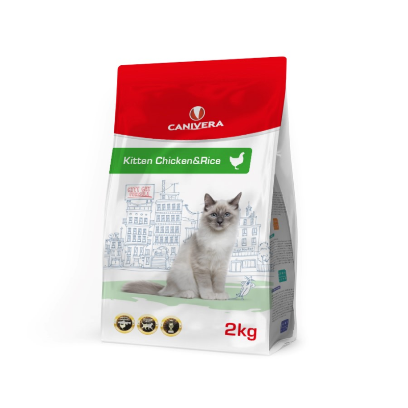 Canivera Kitten Chicken & Rice 400 g, 2 kg, 10 kg