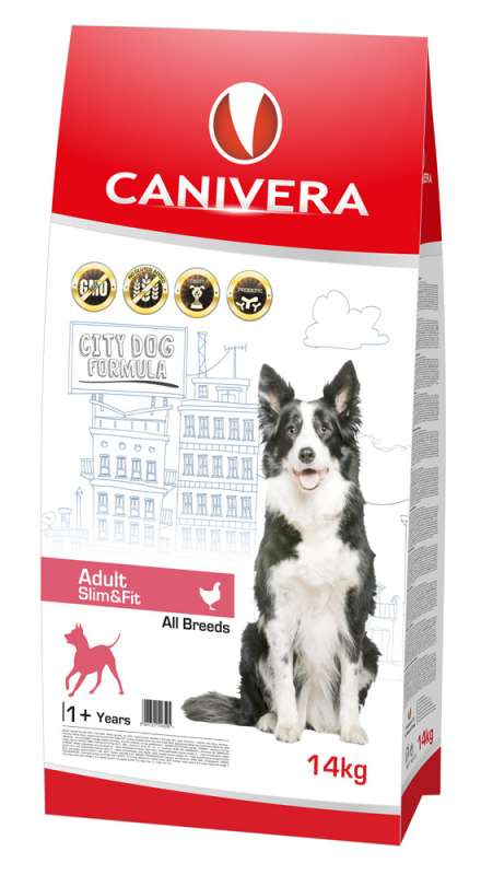 Canivera Adult Slim & Fit All Breeds con Pollo 14 kg, 3 kg