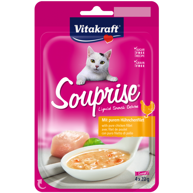 Vitakraft Souprise with Pure Chicken Fillet 4x20 g 4008239366009 ervaringen