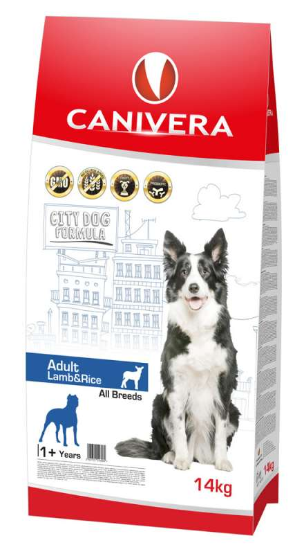Canivera Adult All Breeds mit Lamm und Reis 3 kg, 14 kg bei Zoobio.at