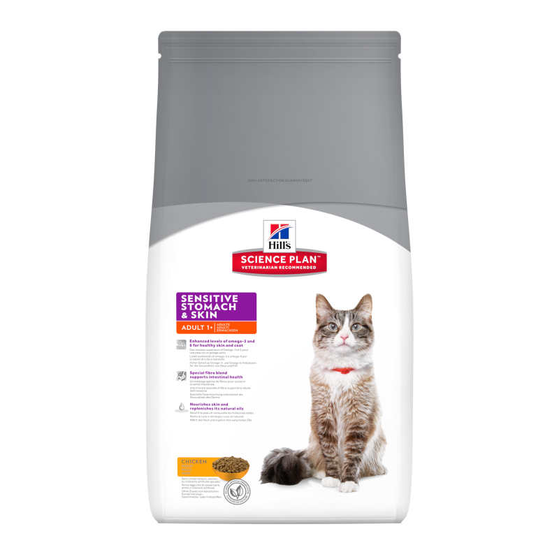 Hill's Science Plan Feline Adult Sensitive Stomach & Skin met Kip 1.5 kg