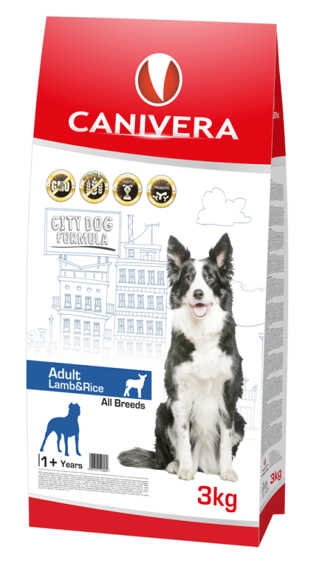 Canivera Adult All Breeds con Agnello e Riso 3 kg