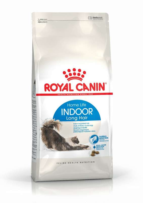 Royal Canin Feline Health Nutrition Indoor Long Hair 10 kg, 2 kg, 4 kg, 400 g kjøp billig med rabatt