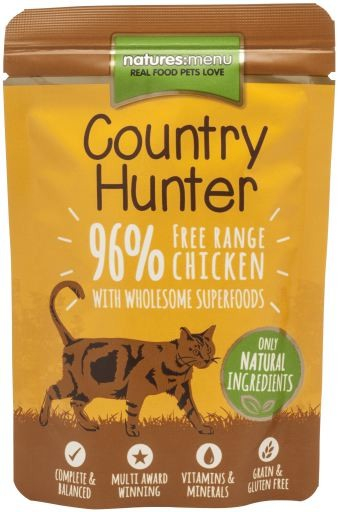 Natures Menu Country Hunter Free Range Chicken 85 g 5025730002853 anmeldelser