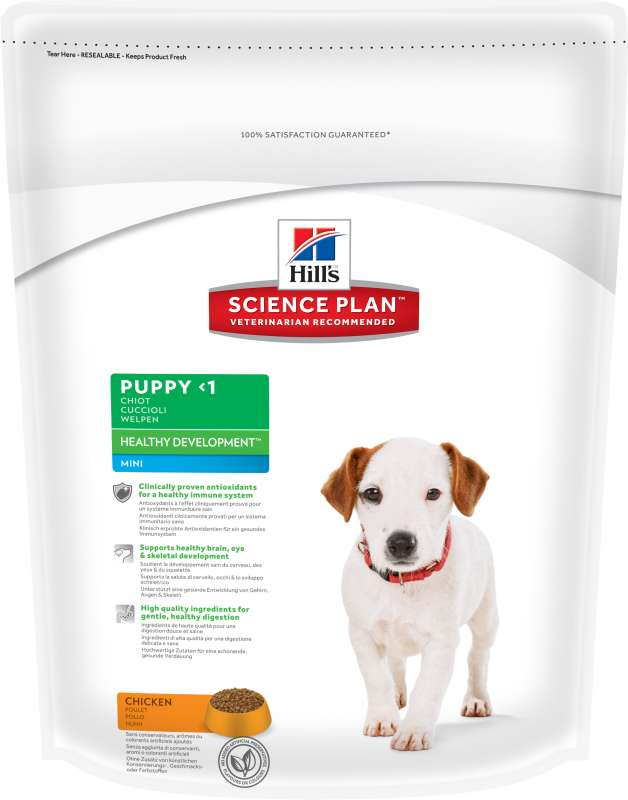 Hill's Science Plan Puppy Healthy Development Mini Kyckling 1 kg