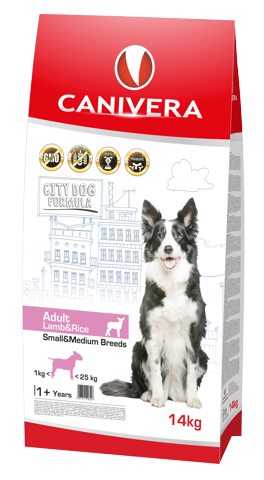 Canivera Adult Small & Medium Breed mit Lamm und Reis 3 kg, 14 kg