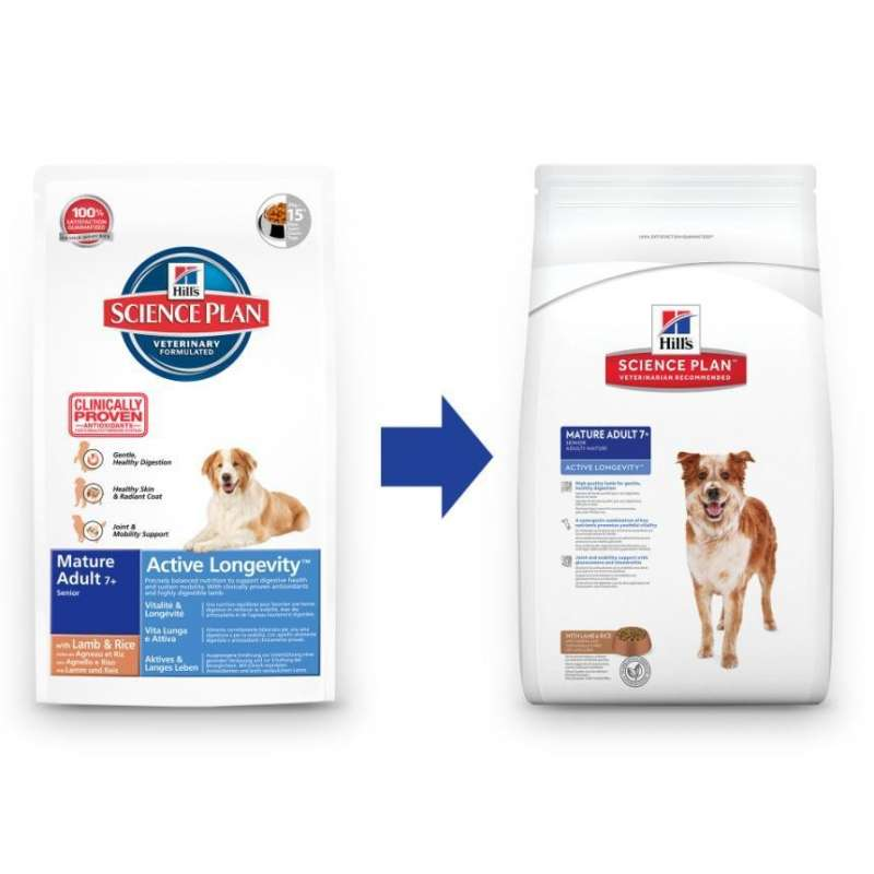 Science Plan Canine - Mature Adult 7+ Active Longevity Lam & Rijst 12 kg