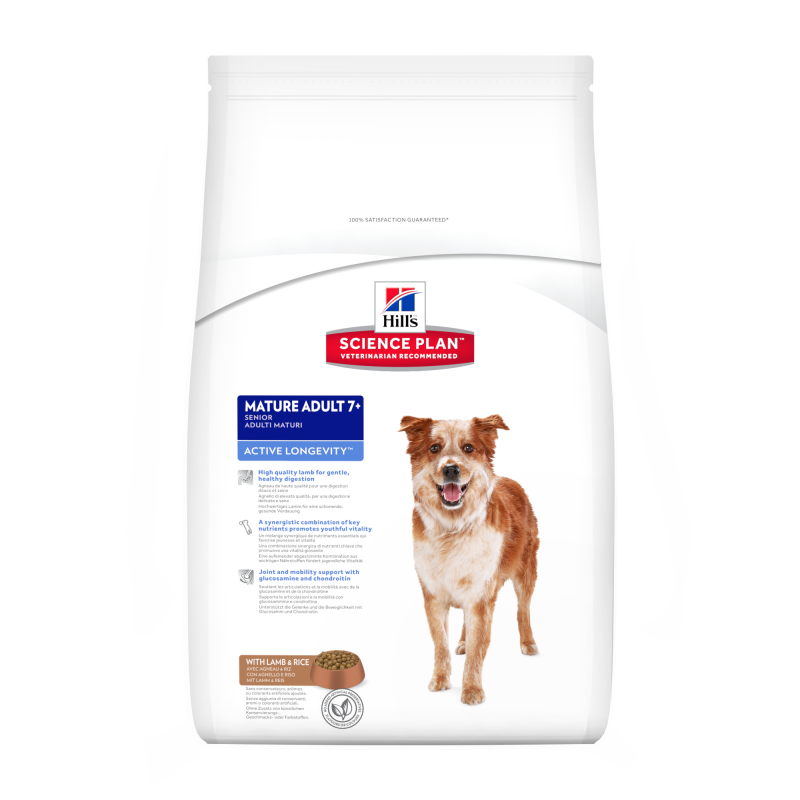 Hill's Science Plan Canine - Mature Adult 7+ Active Longevity Lam & Rijst 12 kg 0052742927305