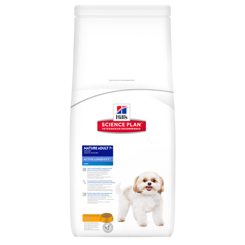 Hill's Science Plan Canine - Mature Adult 7+ Active Longevity Mini met Kip 3 kg, 7.5 kg