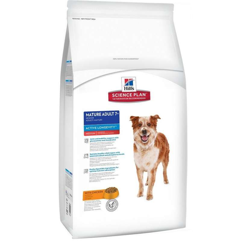 Hill's Science Plan Canine - Mature Adult 7+ Active Longevity Medium Kip 12 kg
