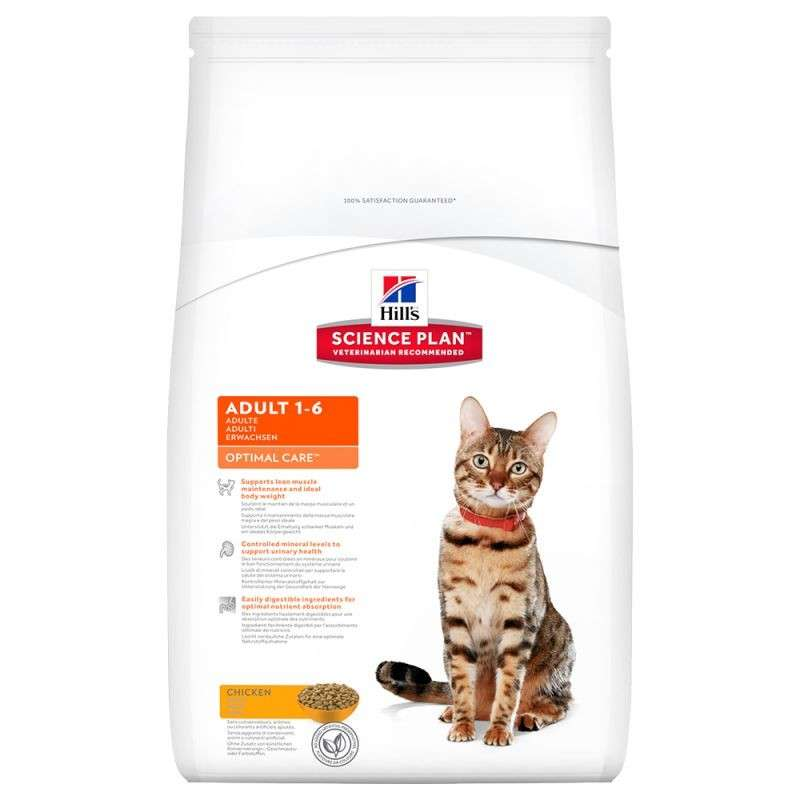 Hill's Science Plan Feline Adult Optimal Care Kylling 10 kg
