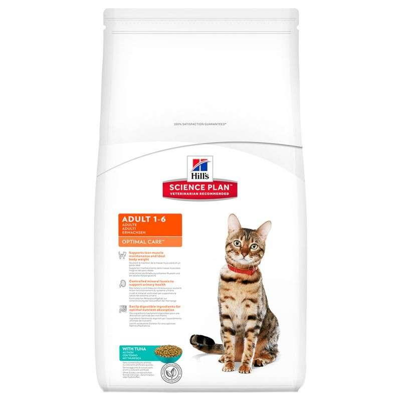 Hill's Science Plan  Feline Adult Optimal Care met Tonijn 10 kg, 15 kg, 2 kg, 400 g, 5 kg