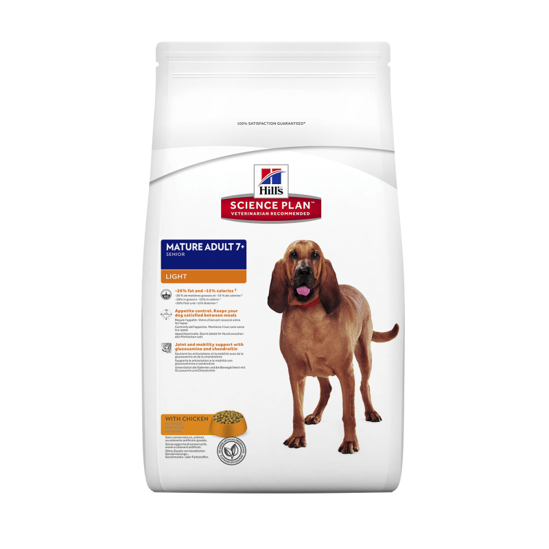 Hill's Science Plan Canine - Mature Adult 7+ Light met Kip 12 kg, 3 kg