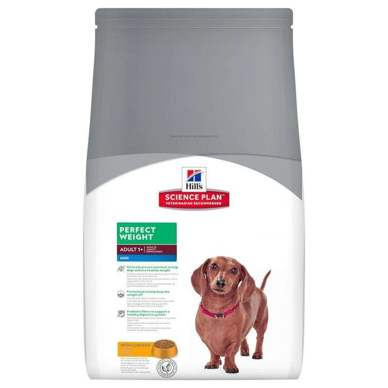 Hill's Science Plan Canine Adult Perfect Weight Mini Kylling 2 kg 0052742366203 erfaringer