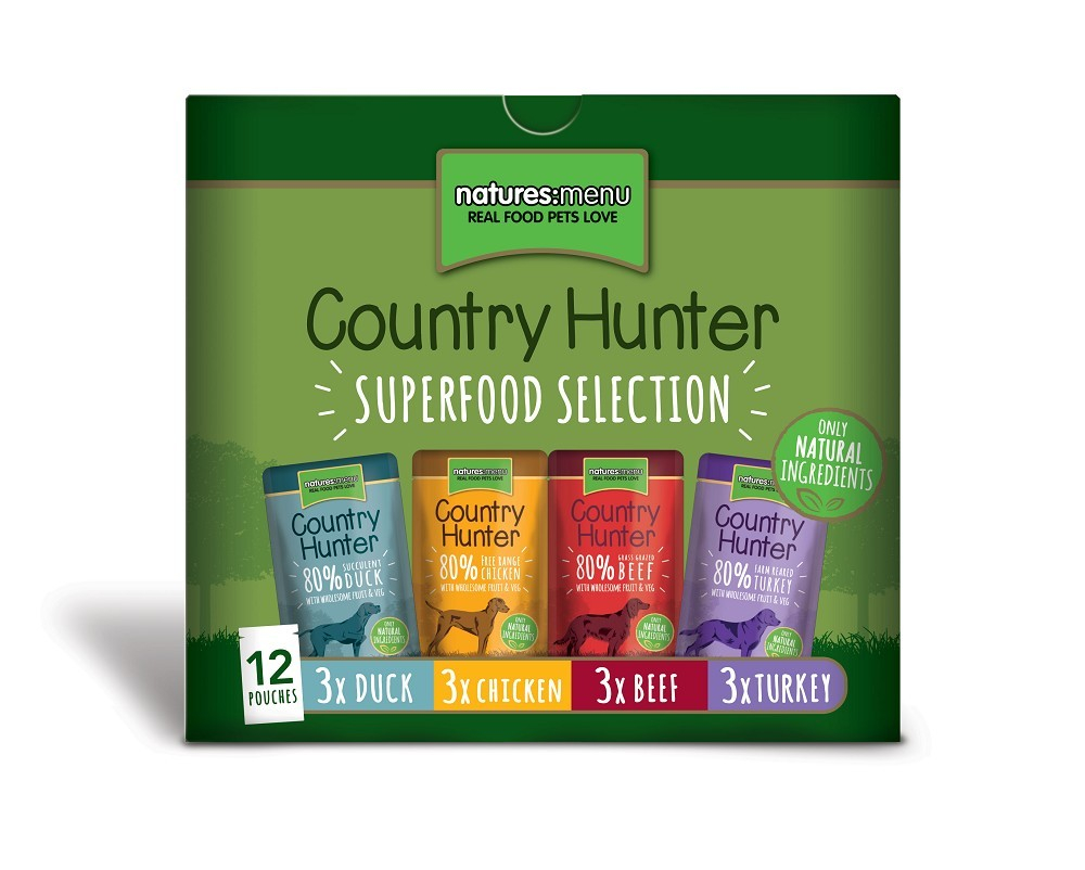 Natures Menu Country Hunter Multipack Superfood Selection 12x150 g 5027530003627 anmeldelser