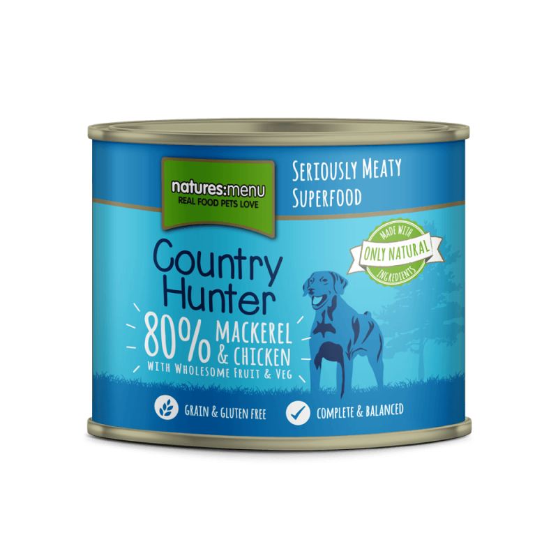 Natures Menu Country Hunter Maquereau et Poulet 600 g