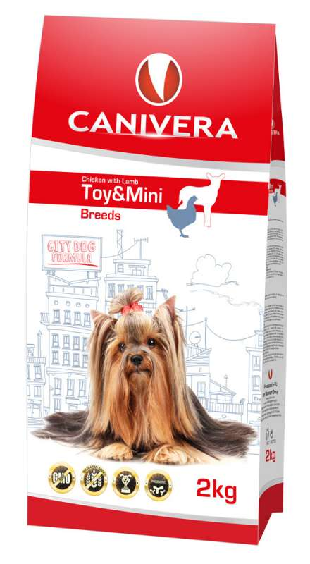 Canivera Puppy & Junior Chicken with Lamb Toy & Mini Breeds 8 kg, 2 kg