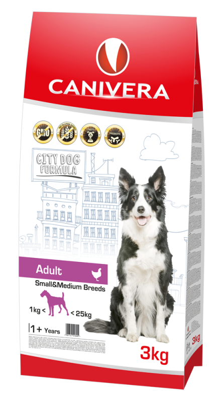 Canivera Adult Small & Medium Breeds con Pollo 3 kg, 14 kg